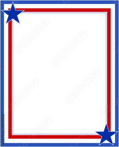 US abstract flag symbolic frame with stars with empty space for your ...