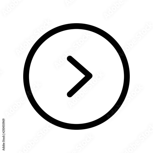 Right Arrow Icon Vector Icon Simple Element Illustration Right