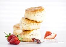 Cream Tea - Scones With Jam, C...