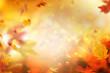 canvas print picture - Herbsthintergrund Overlay