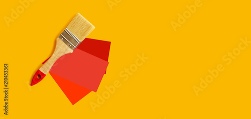 Choice Of Red Color For The Walls Brush And Samples Copy E