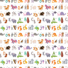 Zoo Alphabet With Cartoon Anim...