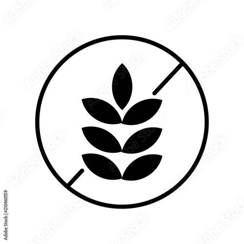 Gluten free icon vector icon  Simple element illustration