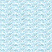 Seamless Blue Wave Pattern #Ve...