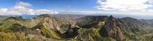 Mountains On The Island La Gomera On The Canary Islands In Spain - In The Background The Teide On Tenerife // La Gomera Auf Den Kanarischen Inseln In Spanien - Im Hintergrund Der Teide Auf Teneriffa