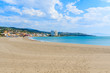 Bay with sandy beach near Sotogrande marina ,Costa del Sol, Spain