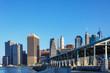 Manhattan skyline at summer daytime