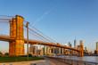 Brooklyn bridge park in New York, Manhattan skyline