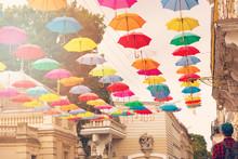 Multi-colored Umbrellas Backgr...