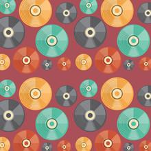 Background Of Vinyls Pattern, ...