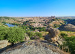 Vista Panorámica / Paisaje de la Ciudad de Toledo, Patrimonio Mundial de la Humanidad de la UNESCO, desde el Mirador de la Peña del Rey Moro, Castilla La Mancha, España