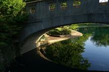 Cincinnati Eden Park Twin Lakes Bridges And Garden