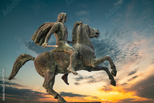 Alexander The Great at Thessaloniki City, Greece Fototapet