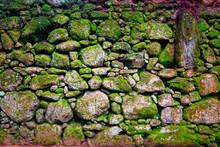 Grunge Stone Wall With Irregul...