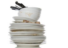 A Pile Of Dirty Dishes For Was...