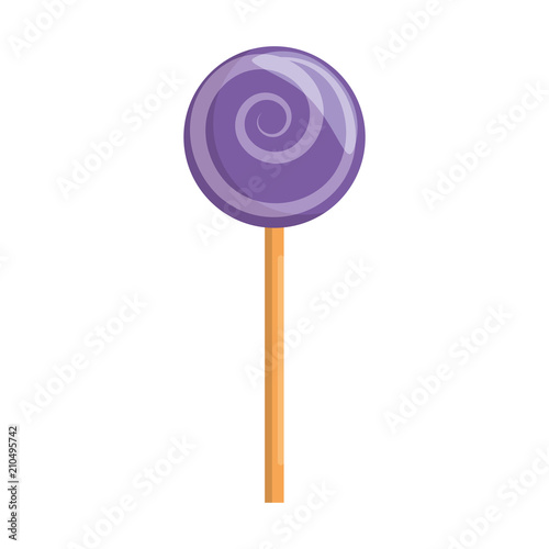 Photographie  sweet lollipop isolated icon vector illustration design