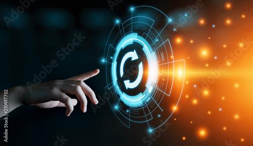 Fotomural Update Software Computer Program Upgrade Business technology Internet Concept
