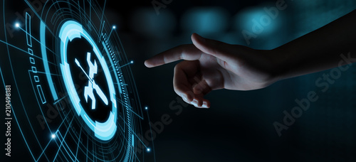 Cuadros en Lienzo Technical Support Customer Service Business Technology Internet Concept