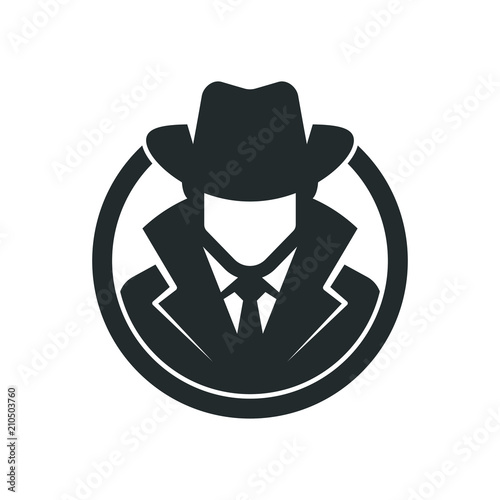 spy agent detective logo buy this stock vector and explore similar vectors at adobe stock adobe stock spy agent detective logo buy this