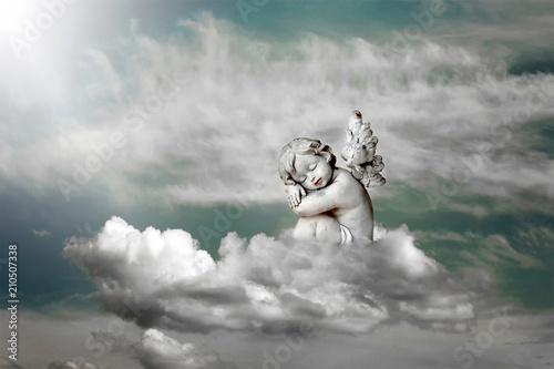 Fotografija Angel sleeping on the cloud