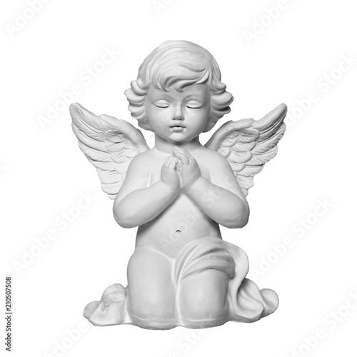 Angel isolated on white background Wall mural