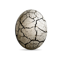 Egg Of A Dinosaur On A White Background. Realistic Vector Illustration