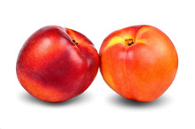 Nectarine Isolated On White With Clipping Path