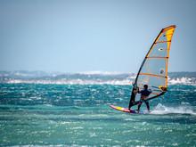 Windsurfer On Western Australian Coast