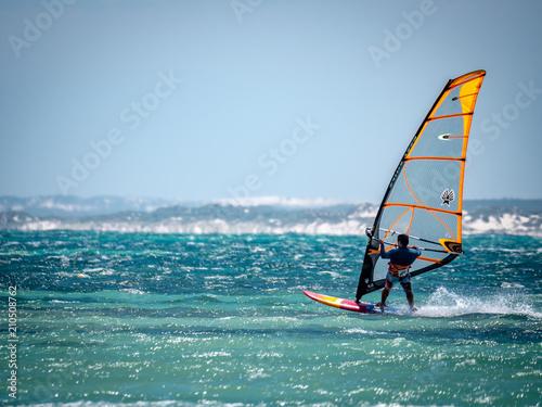 Fotografie, Obraz  Windsurfer on Western Australian Coast