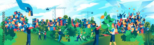 Obraz Sviluppo Urbano Sostenibile - fototapety do salonu