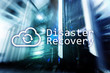 Leinwandbild Motiv DIsaster recovery. Data loss prevention. Server room on background.