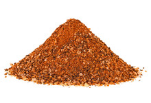 Pile Of Bbq Spices Mix Isolated On White Background