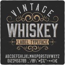 Vintage Western Label Font Nam...