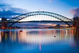 Mighty construction of harbor harbour bridge during sunset sky to downtown city center centre Sydney for holiday and couple romantic honeymoon