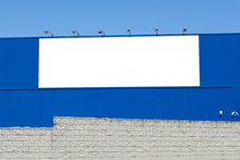 Blank Billboard On Brick And B...