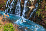Waterfalls and Blue river