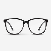 Black Optical Glasses On White Background. Dioptrical Glasses. Ophthalmology Concept. Vector Illustration.