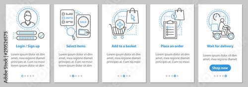 Fotografía  Online shopping onboarding screen