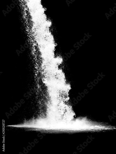 Staande foto Watervallen waterfall isolated on the black background