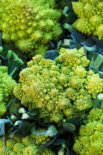 cauliflower romanesco in street market