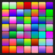 Set of two-coloured bright gradients, various patterns, templates for your design. Multicolored backgrounds. Swathes included.