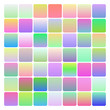 Set of two-coloured soft gradients, various patterns, templates for your design. Multicolored backgrounds. Swathes included.