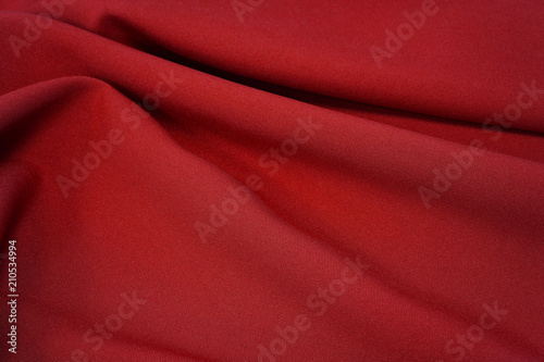 In de dag Stof Abstract red drapery cloth, Pattern and detail grooved fabric for background and abstract