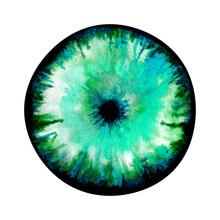 Watercolour Blue Eye Abstract