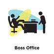 Boss Office icon vector sign and symbol isolated on white background, Boss Office logo concept