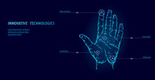 Low Poly Hand Scan Cyber Secur...
