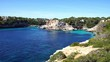 Rocky coastline cliffs of Mallorca, beautiful island at Mediterranean Sea, Spain Balearic Islands