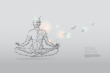The Particles, Polygonal, Geometric Art - Yoga