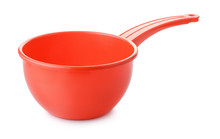 Red Round Plastic Water Dipper
