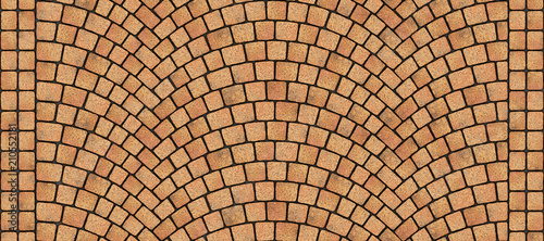 Road curved cobblestone texture 009 Wallpaper Mural
